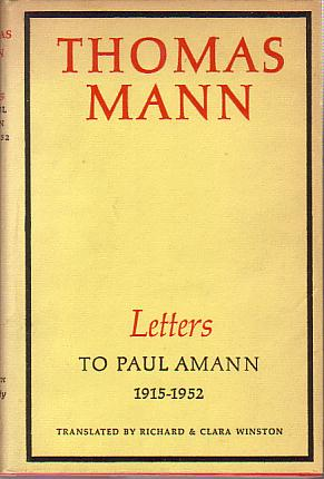 Image for LETTERS TO PAUL AMANN 1915 - 1952