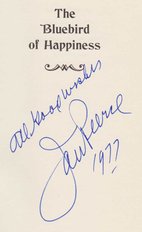 Image for THE BLUEBIRD OF HAPPINESS The Memoirs of Jan Peerce