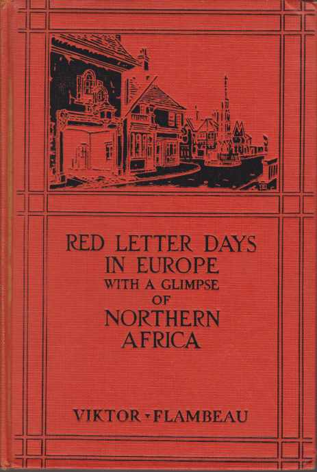 Image for RED LETTER DAYS IN EUROPE With a Glimpse of Northern Africa