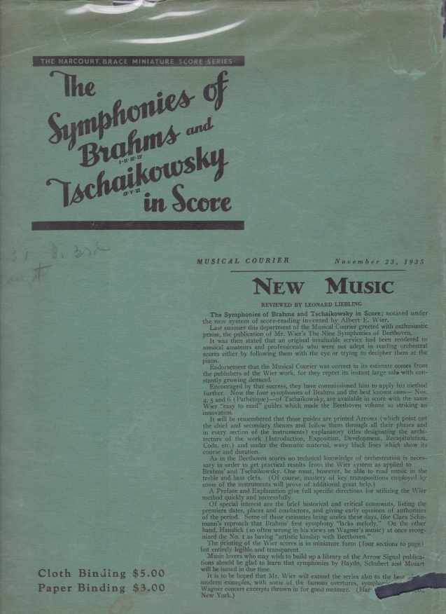 Image for THE SYMPHONIES OF BRAHMS AND TSCHAIKOWSKY IN SCORE