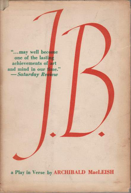 Image for J.B. A Play in Verse