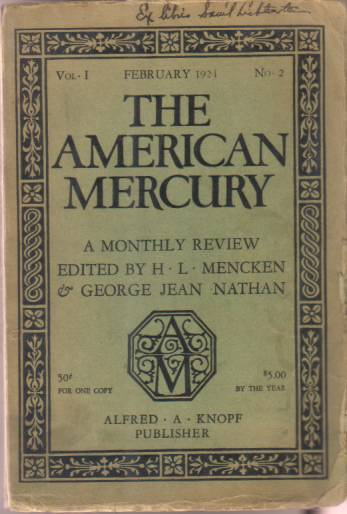 Image for THE AMERICAN MERCURY FEBRUARY 1924