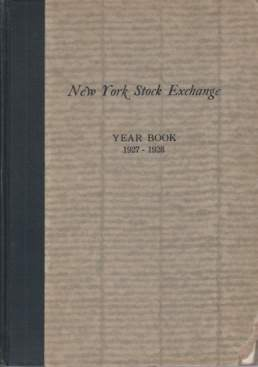 Image for NEW YORK STOCK EXCHANGE YEAR BOOK 1927-1928