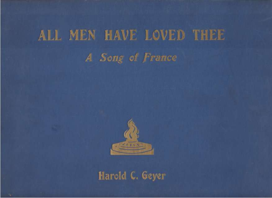 Image for ALL MEN HAVE LOVED THEE A Song of France
