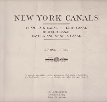 Image for CHARTS OF NEW YORK CANALS Champlain Canal, Erie Canal, Oswego Canal, Cayuga and Seneca Canal