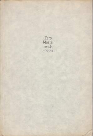 Image for ZERO MOSTEL READS A BOOK
