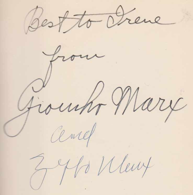 Image for THE GROUCHO LETTERS Letters to and from Groucho Marx