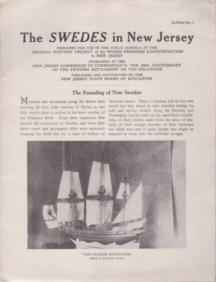 Image for THE SWEDES IN NEW JERSEY Bulletin No. 1