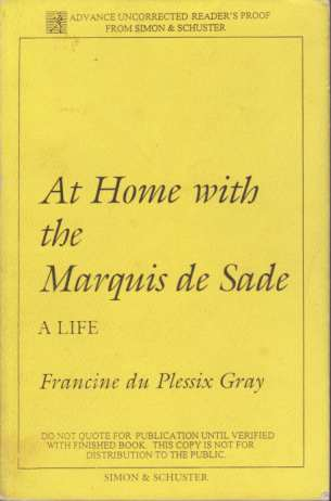 Image for AT HOME WITH THE MARQUIS DE SADE