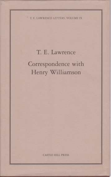 Image for CORRESPONDENCE WITH HENRY WILLIAMSON