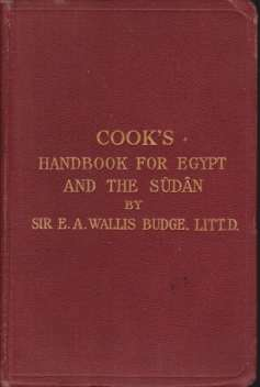Image for COOK'S HANDBOOK FOR EGYPT AND THE SUDAN With Chapters on Egyptian Archaeology