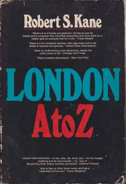 Image for LONDON A TO Z