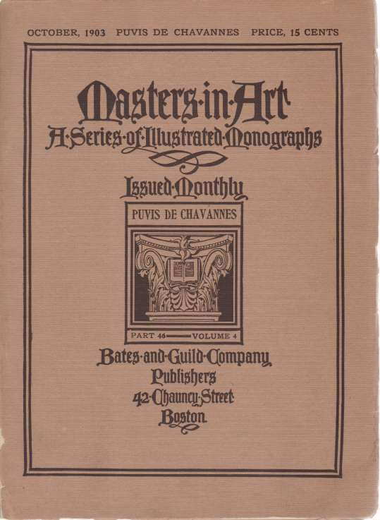 Image for MASTERS IN ART. PUVIS DE CHAVANNES. OCTOBER, 1903 A Series of Illustrated Monographs