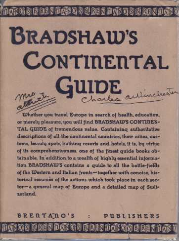 Image for Bradshaw's Continental Guide A descriptive Guide to all European Countries, Bathing Resorts, Battlefields, Etc.