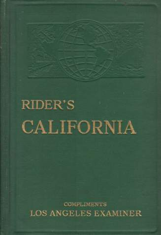 Image for RIDER'S CALIFORNIA A Guide-Book for Travelers