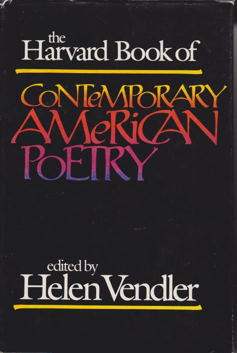 Image for THE HARVARD BOOK OF CONTEMPORARY AMERICAN POETRY