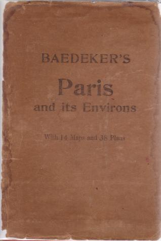 Image for PARIS AND ENVIRONS With Routes from London to Paris. Handbook for Travellers