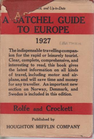 Image for A SATCHEL GUIDE TO EUROPE The Forty-Ninth Annual Edition