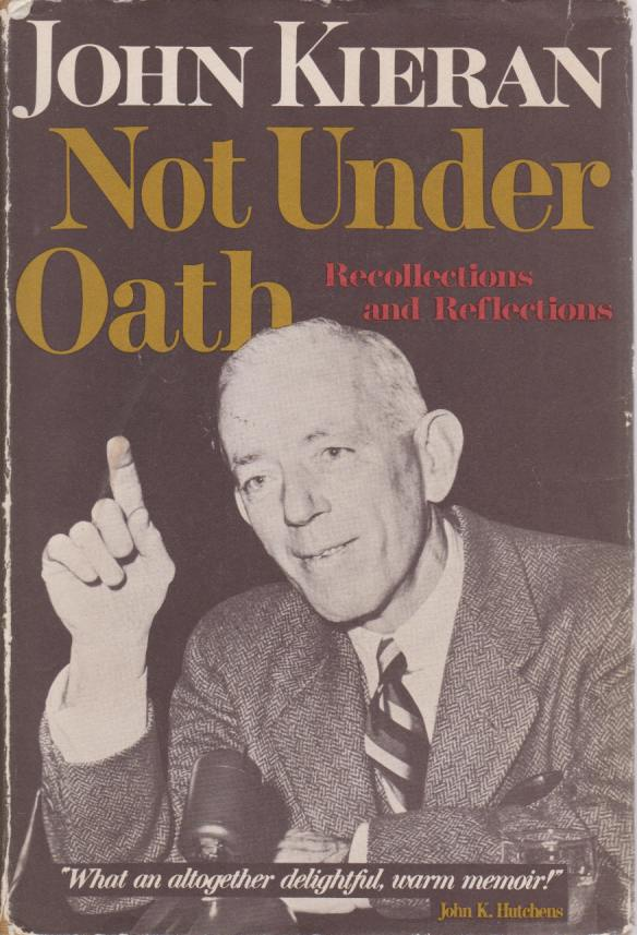 Image for NOT UNDER OATH Recollections and Reflections