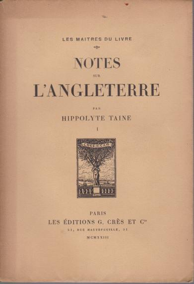 Image for NOTES SUR L'ANGLETERRE [TWO VOLUMES]