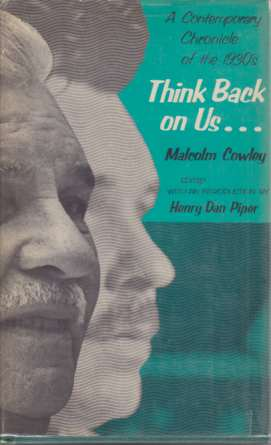 Image for THINK BACK ON US... A Contemporary Chronicle of the 1930's