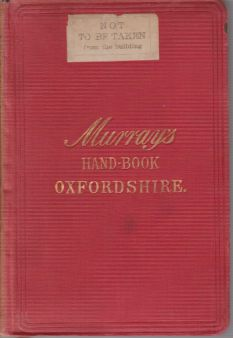 Image for HANDBOOK FOR TRAVELLERS ON OXFORDSHIRE