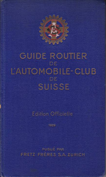 Image for GUIDE ROUTIER DE L'AUTOMOBILE-CLUB DE SUISSE