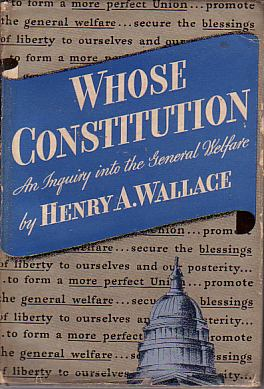 Image for WHOSE CONSTITUTION An Inquiry Into the General Welfare