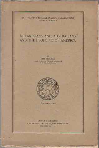 Image for MELANESIANS AND AUSTRALIANS AND THE PEOPLING OF AMERICA