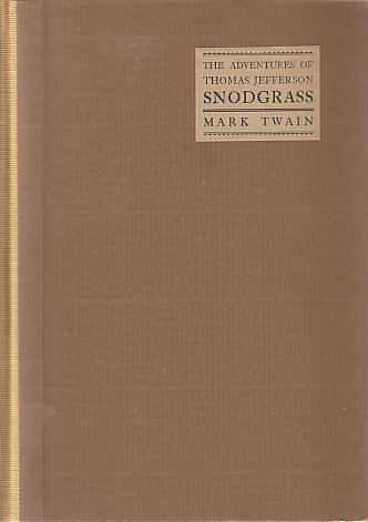 Image for THE ADVENTURES OF THOMAS JEFFERSON SNODGRASS