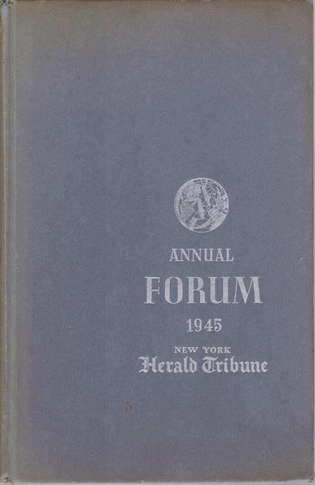 Image for RESPONSIBILITY OF VICTORY Report of the New York Herald Tribune Annual Forum on Current Problems